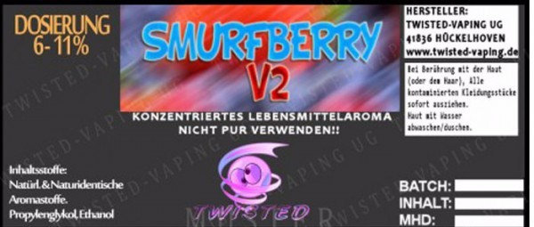 Twisted Vaping - Smurfberry 10 ml Aroma
