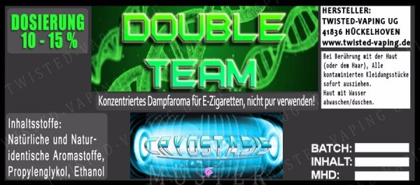Twisted Vaping - Double Team Twist 10 ml Aroma