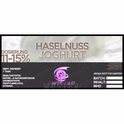 Twisted Vaping - Haselnuss Joghurt 10 ml Aroma