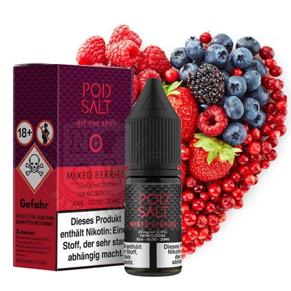 POD Salt Mixed Berries Nikotinsalz Liquid