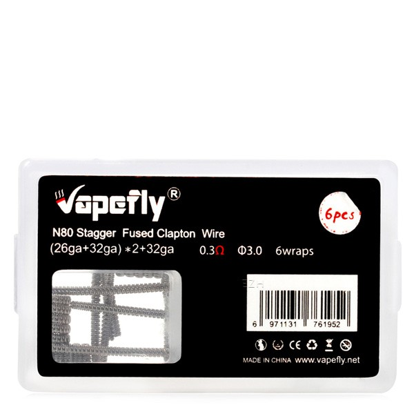 Vapefly - Prebuilt Stagger Fused Clapton Ni80 Coil