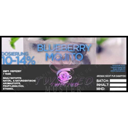 Twisted Vaping - Blueberry Mojito 10 ml Aroma