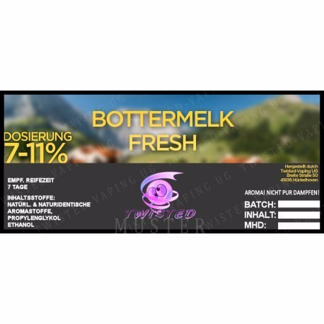 Twisted Vaping - Bottermelk Fresh 10 ml Aroma