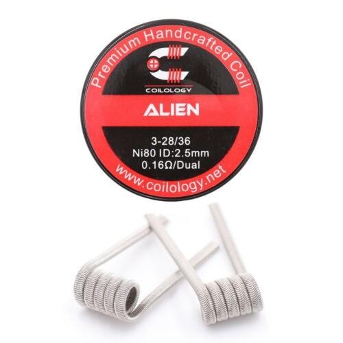 Coilology - Handmade Alien Ni80 0,16 Ohm Dual