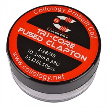 Coilology - Tri-Core Fused Clapton 0,33 Ohm SS316L
