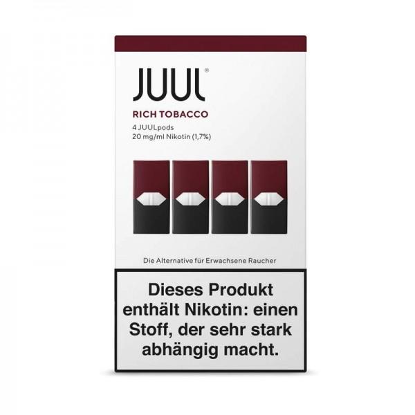 JUUL Rich Tobacco Liquidpod 4er Pack Einwegkapsel