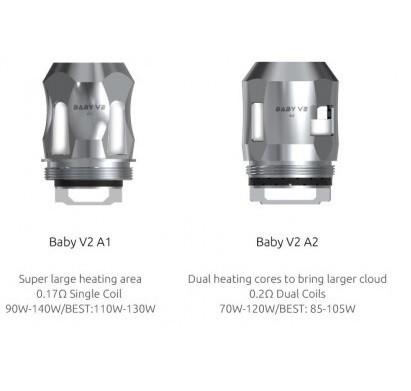 3x SMOK Baby V2 Coil Verdampferkopf